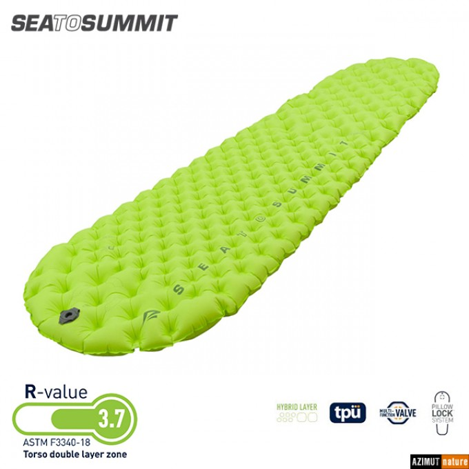 Sea To Summit - Matelas Gonflable Comfort Light Insulated Vert + Sac Pump