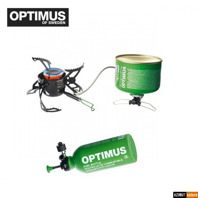 Rechaud  Optimus Polaris Optifuel + Bouteille 0.4 L