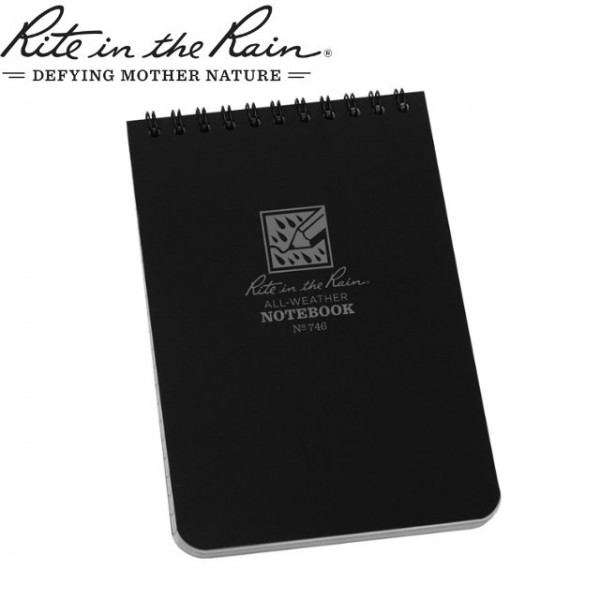 Rite in The Rain - Carnet Note Book imperméable 10x15cm Noir