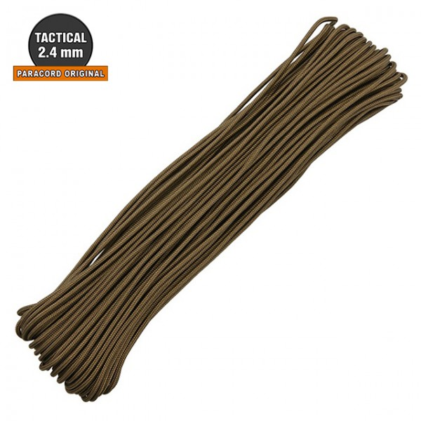 Paracord Tactical 2.4mm - 30m Coyote