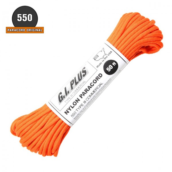 Paracord 550 - 7 Brins - 30 ML Fluo Orange