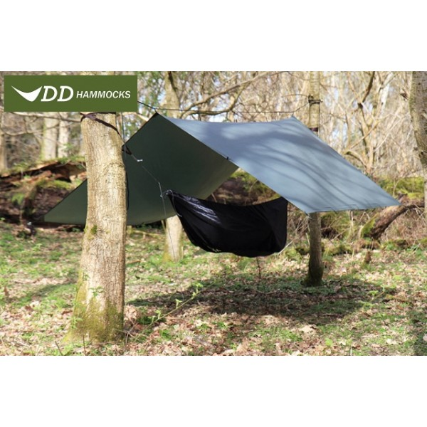 DD Hammock - Tarp  Super Light 3 X 2.9 Olive Green