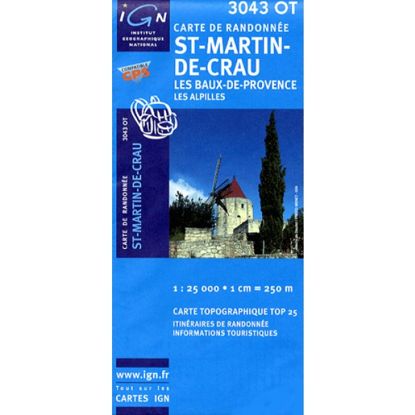 Carte IGN top25 St Martin de Crau
