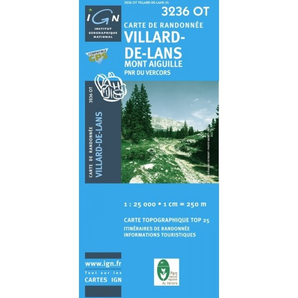 Carte IGN top25 Villard-de-Lans