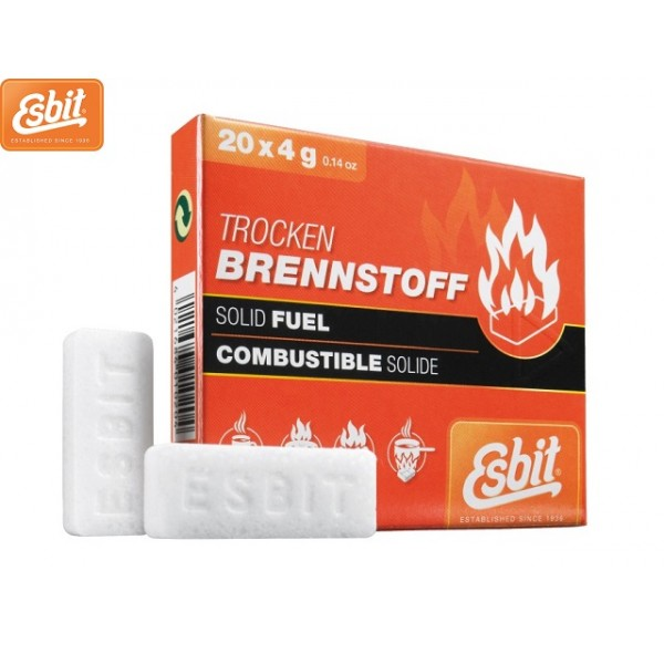 Combustible Alcool solide Esbit 20 x 4grs