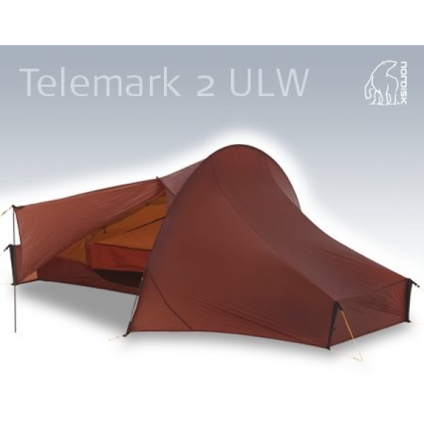 Nordisk - Tente Telemark 2 ULW Carbone Burnt red.
