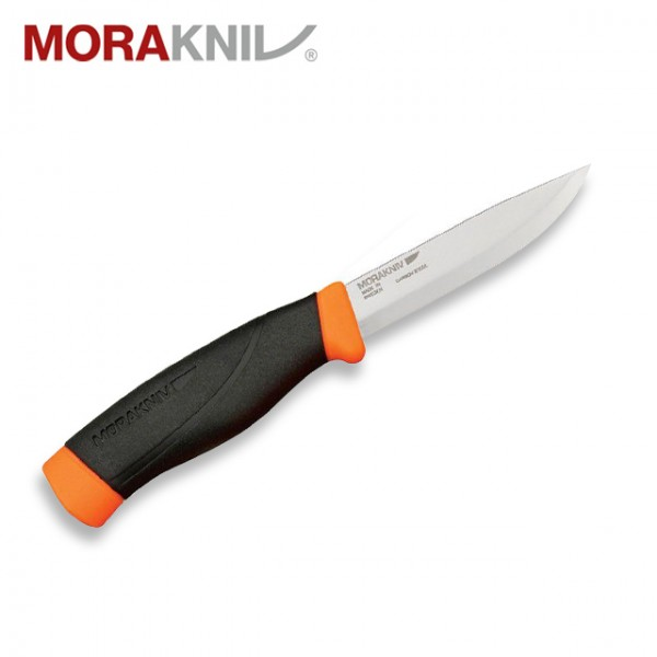 Morakniv - Couteau Mora Companion Heavy Duty Carbone Orange Fluo