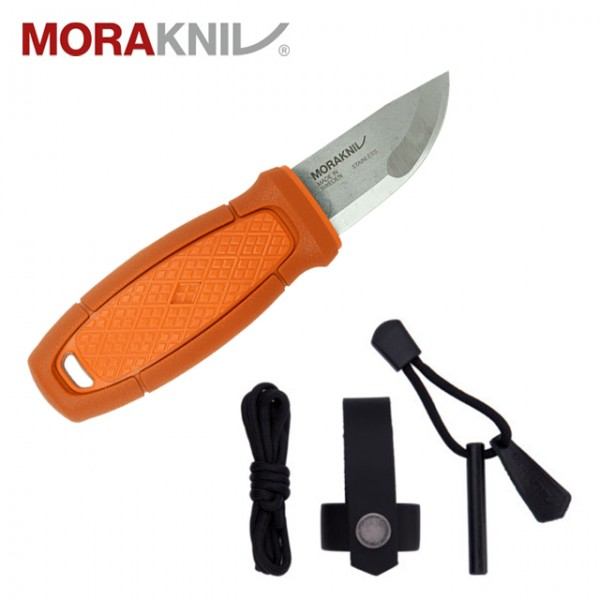 Morakniv - Couteau Mora Eldris Neck + Fire Steel 2.0 Orange Burnt