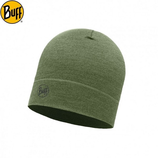 Buff - Bonnet Merino Moyen Military