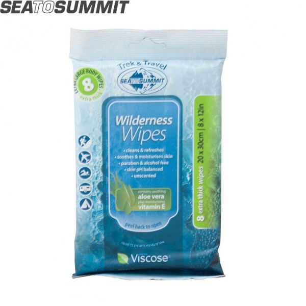 Sea To Summit - Lingettes Wilderness Wipes 20 x 30cm