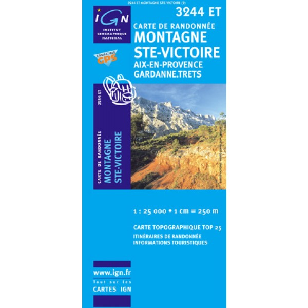Carte IGN top25 St Victoire
