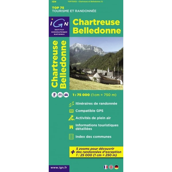 Carte IGN Top75 Chartreuse - Belledonne