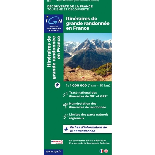 Carte IGN Tourisme et Decouverte GR France