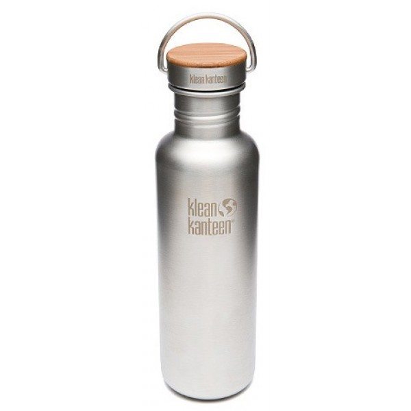 Bouteille Kanteen Classic Reflect  0.8 L Bamboo Cap Brushed Stainless
