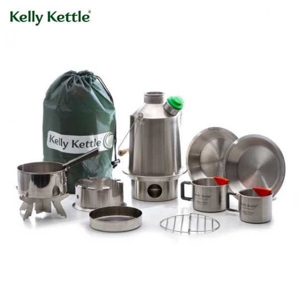 Kelly Kettle - Réchaud Bouilloire Ultimate Scout Kit 1.2 L Inox