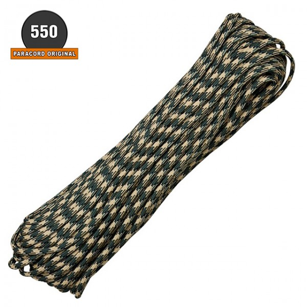 Paracord 550 - 7 Brins - 30 ML Camo Forest