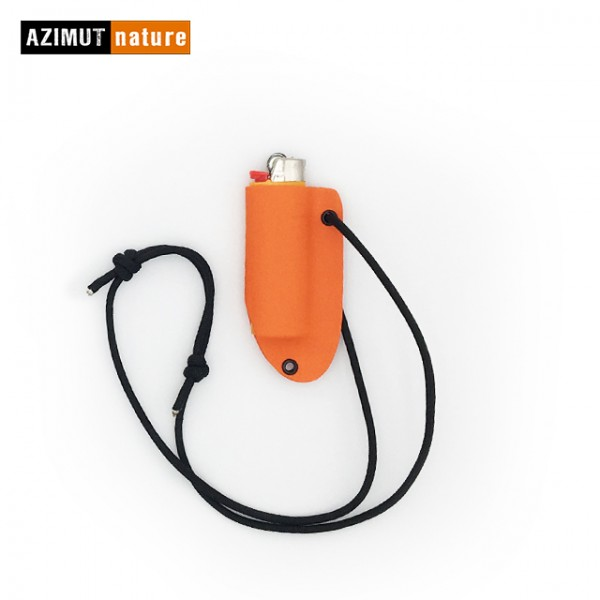 Azimut Nature - Etui de cou Kydex pour briquet Bic GM - Orange