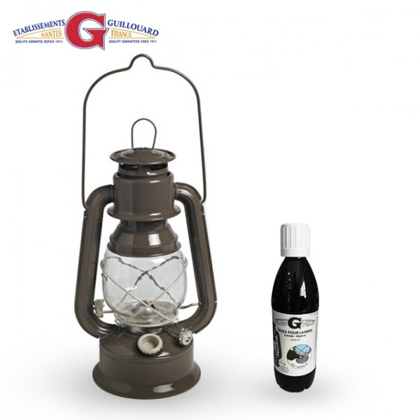 Guillouard - Lampe Tempete Luciole Taupe + 0.5L huile