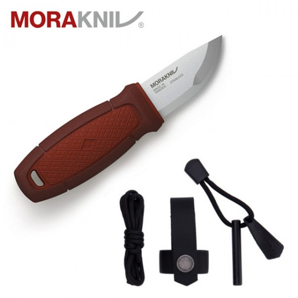 Mora - Couteau Eldris Neck + Fire Steel Rouge