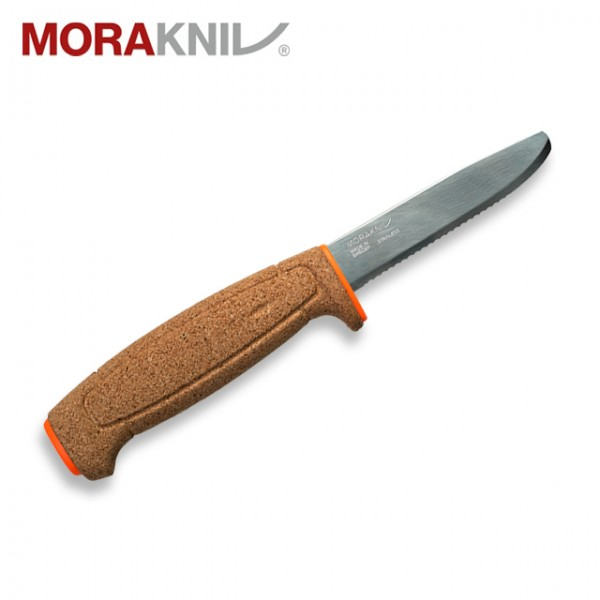 Morakniv - Couteau Mora Floating Flottant Liege Serrated Orange Fluo