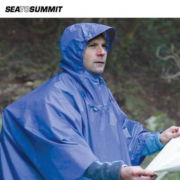Sea To Summit - Poncho Tarp Nylon Bleu