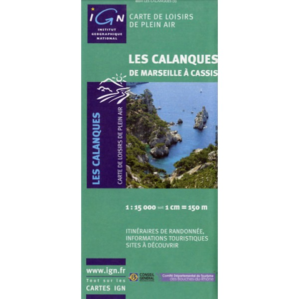 Carte IGN Plein Air Calanques
