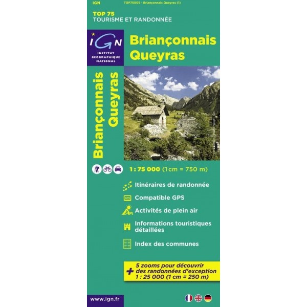 Carte IGN Top75 Brianconnais - Queyras